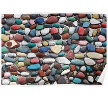 Painted Rock Wall Poster