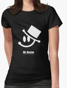 Mr. Vector black Womens Fitted T-Shirt