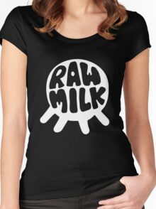 Raw Milk - White Women's Fitted Scoop T-Shirt