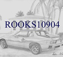 Porsche 924 SPORTS CAR ART PRINT by rooks10904