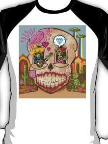Mexican Skull Design with Diamond T-Shirt
