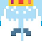 Adventure Time 8-bit Sprite Ice King by d13design