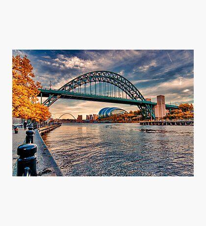 Autumn on the River Tyne Photographic Print