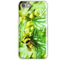 Honey Bee Gathering Pollen Abstract Impressionism iPhone Case/Skin