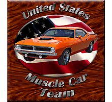 Plymouth Barracuda Muscle Car Team Photographic Print
