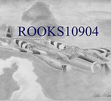 P-38 Lightning MILITARY AIRCRAFT ART PRINT by rooks10904