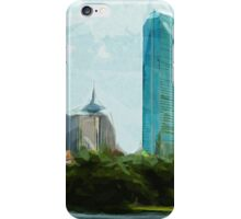 Downtown Boston Abstract Impressionism iPhone Case/Skin