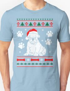 Bulldog Dog Ugly Christmas Sweater Xmas T-Shirt