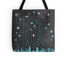 Industry a city Tote Bag