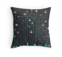 Industry a city Throw Pillow