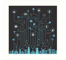 Industry a city Art Print