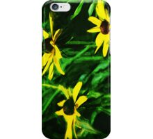 Black Eyed Susan Flowers Abstract Impressionism iPhone Case/Skin
