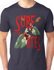 SURF guitar BITES (red wording) Unisex T-Shirt