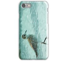 Black Bellied Plover on the Beach Abstract Impressionism iPhone Case/Skin