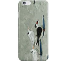 Black Skimmer Among Terns Abstract Impressionism iPhone Case/Skin