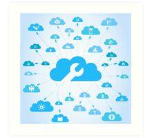 Industry a cloud Art Print