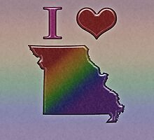 I Heart Missouri Rainbow Map - LGBT Equality by LiveLoudGraphic