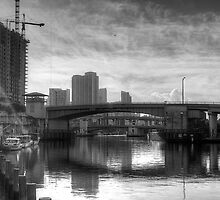 Bridges over the Miami River by njordphoto