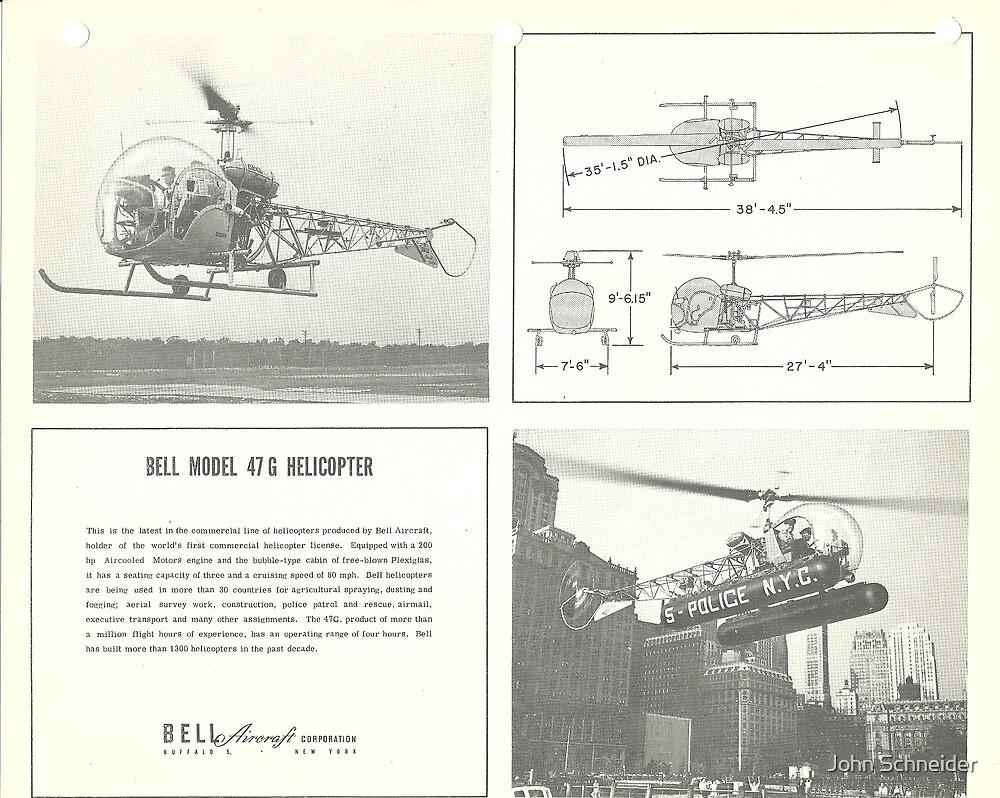 Bell Model 47G Helicopter by John Schneider