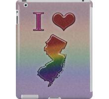 I Heart New Jersey Rainbow Map - LGBT Equality iPad Case/Skin