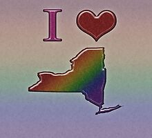 I Heart New York Rainbow Map - LGBT Equality by LiveLoudGraphic