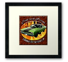 Plymouth Roadrunner Fast and Fierce Framed Print
