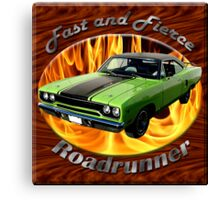 Plymouth Roadrunner Fast and Fierce Canvas Print