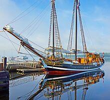 Tall Ship Larinda at Shelburne, Nova Scotia, Canada by boogeyman
