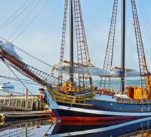 Tall Ship Larinda at Shelburne, Nova Scotia, Canada Sticker