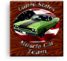 Plymouth Roadrunner Muscle car Team Canvas Print