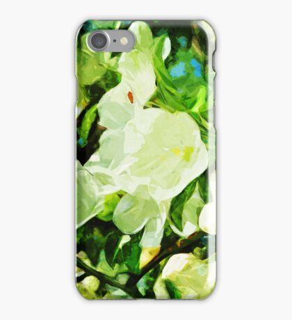 Fragrant Spring Apple Blossoms Abstract Impressionism iPhone Case/Skin