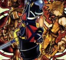 Kingdom Hearts Sora stained glass Sticker