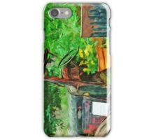 Antique Car Planter Abstract Impressionism iPhone Case/Skin