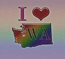I Heart Washington Rainbow Map - LGBT Equality by LiveLoudGraphic