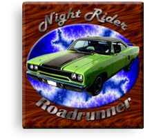 Plymouth Roadrunner Night Rider Canvas Print
