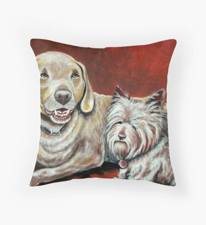 Sammy and Belle Throw Pillow