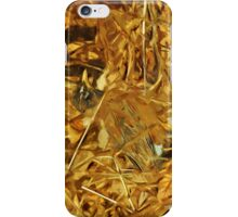 American Robin Hunting Abstract Impressionism iPhone Case/Skin