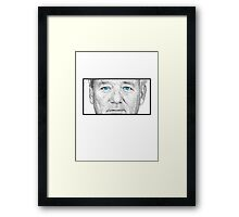 Bill Murray - Blue Eyes Framed Print