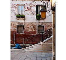 A Little Venetian Corner Photographic Print