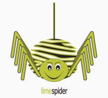 Lime Spider T-shirt One Piece - Short Sleeve