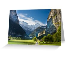 Lauterbrunen Valley, Switzerland Greeting Card