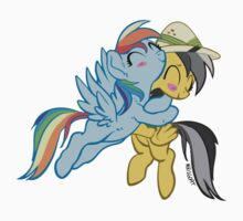 Rainbow Dash & Daring Do Hug by Krisgoat