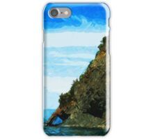 Outside the Bay of Seward Alaska Abstract Impressionism iPhone Case/Skin