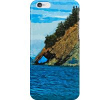Outside the Bay of Seward Alaska Abstract Impressionism iPhone Case/Skin
