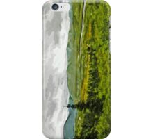 Overcast at Denali National Park Alaska Abstract Impressionism iPhone Case/Skin