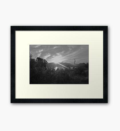 Single Ray Framed Print