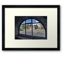 AA60 Looking Through The Arched Window  Framed Print