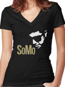 SoMo Women's Fitted V-Neck T-Shirt