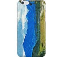 Denali Alaska Road Abstract Impressionism iPhone Case/Skin