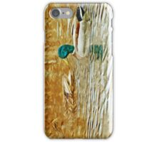 Mallard Ducks Swimming Abstract Impressionism iPhone Case/Skin